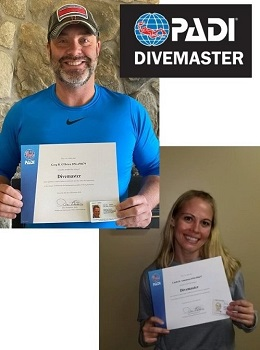 PADI Divemaster Certification NJ 2020