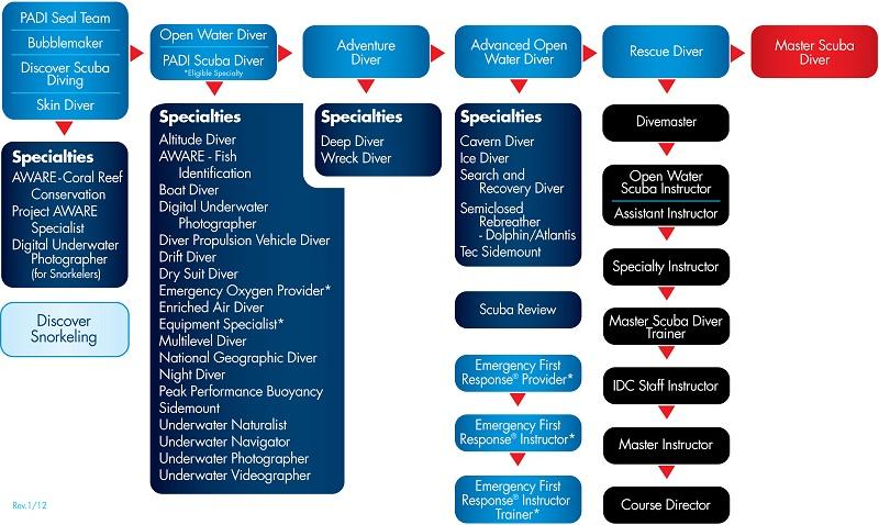 Scuba Diving Certification Levels