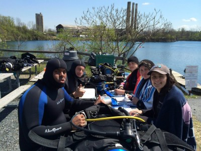 PADI Open Water Certification April 2014