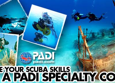 PADI Speciality Scuba Certifications NJ - Combo of 5