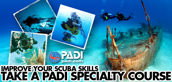 PADI Speciality Scuba Certifications NJ - Combo of 5