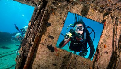 wreck diving nj
